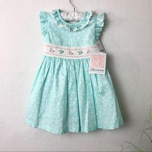 Bonnie Baby Blue Polka Dot Dress
